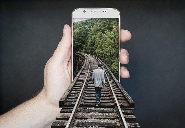 manipulace se smartphonem