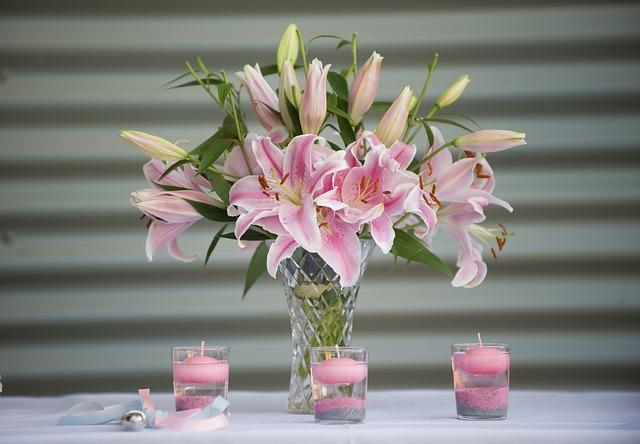 řezané lilie ve váze